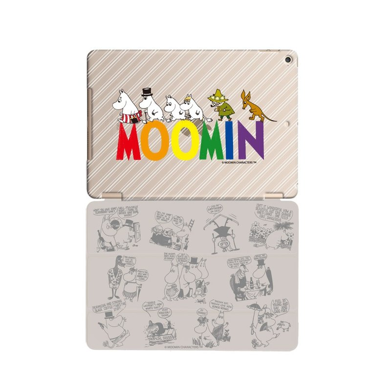 "Moomin Moomin genuine authority -iPad crystal shell: [] Moomin Family ""iPad Mini"" Crystal Case (gray) + Smart Cover (Grey / magnetic pole)"