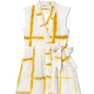 CHANDAMAMA Garima White w/merigold Yellow Dress