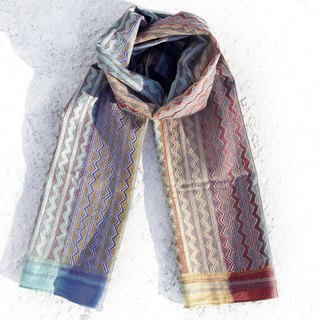 Christmas gift New Year gift birthday gift Valentine's Day gift limited a piece of hand-stitched embroidery silk scarves / colored embroidery scarves / hand embroidery silk scarves / hand-sewing silk scarves - gradient rainbow in the universe world sta
