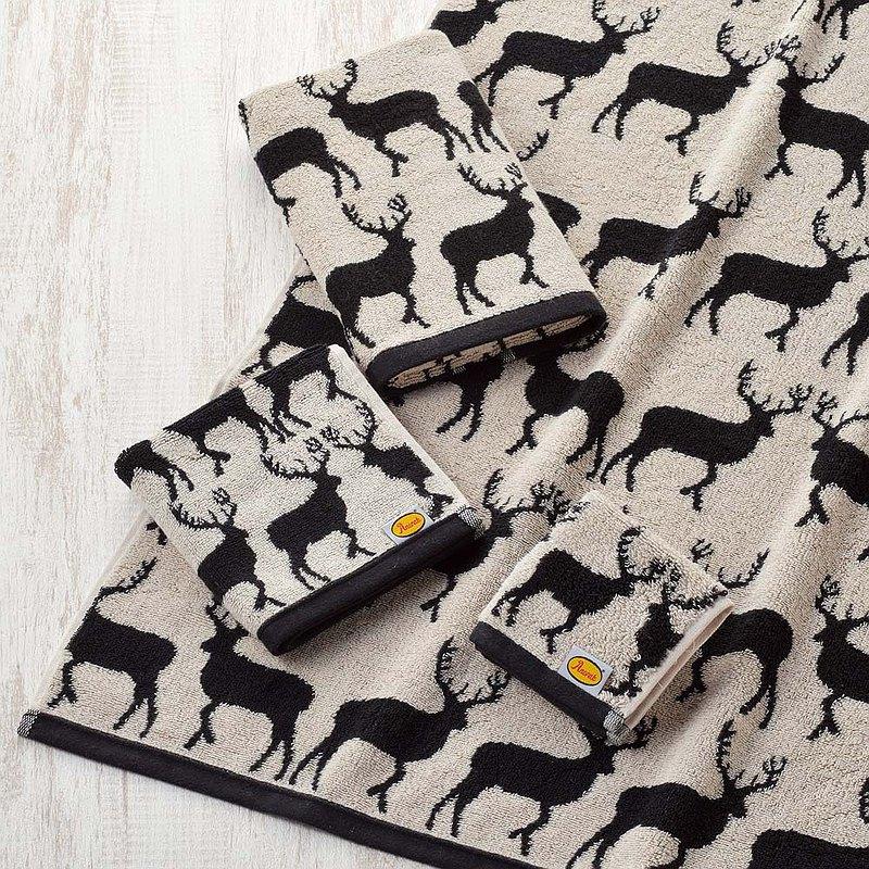 日本丸真│Anorak英倫設計款毛巾洗臉巾 麋鹿