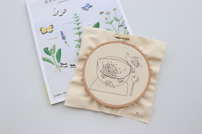 Sweet Life La Dolce Vita Illustration Embroidery Kit - Shui Xin Xuan