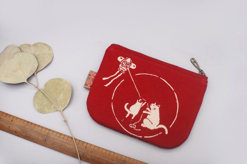 Ping Le Small Wallet - Kitty Ancient Cloth Kite, Japan Feel Cotton