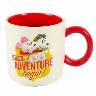 Snoopy Movie Mug - Adventure Starts [Hallmark-Peanuts Snoopy Mug]