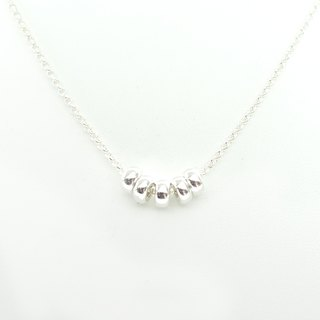 BUBBLES - sterling silver necklace with bubble beads
