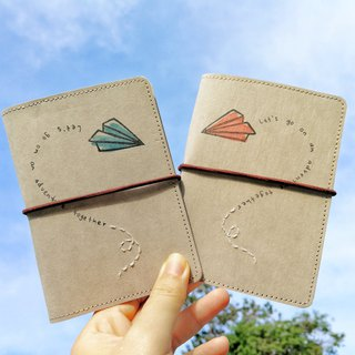 Love is in The Air hand-painted couple passport holder