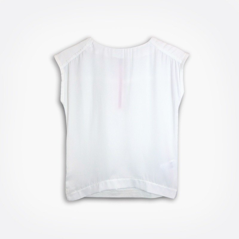 Lightweight sleeveless white T-shirt