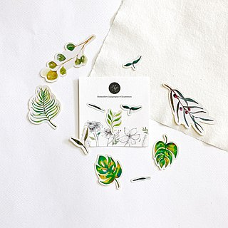 Mstandforc Botanical Leaves Stickers (11 pcs)