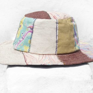 Moroccan wind stitching hand-woven cotton hat woven hat fisherman hat visor straw hat - coffee garden wind