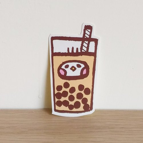 Seed seeded bio pearl milk tea illustration sticker