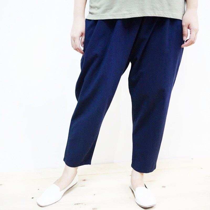 [MIT] Qi Wu eight 〇x nine-lun cotton pants (dark blue) (men and women pass through)