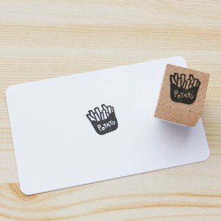 Hand engraved rubber stamp fries seal stationery