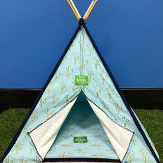 [AFU] Indian camping tent with sleeping mat (water blue cactus)