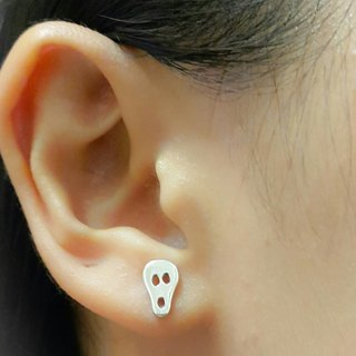 Halloween scared faces sterling silver earrings (single) not Trick or Treat / handmade silver / Gifts / Souvenirs / Festivals
