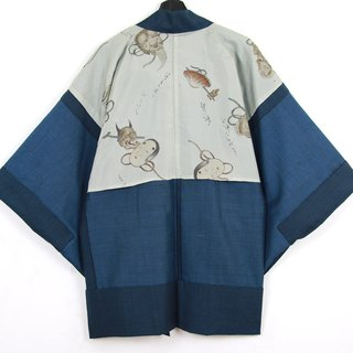 Back to Green Japan Brings Back Male Quilted Hand Painted Vintage kimono