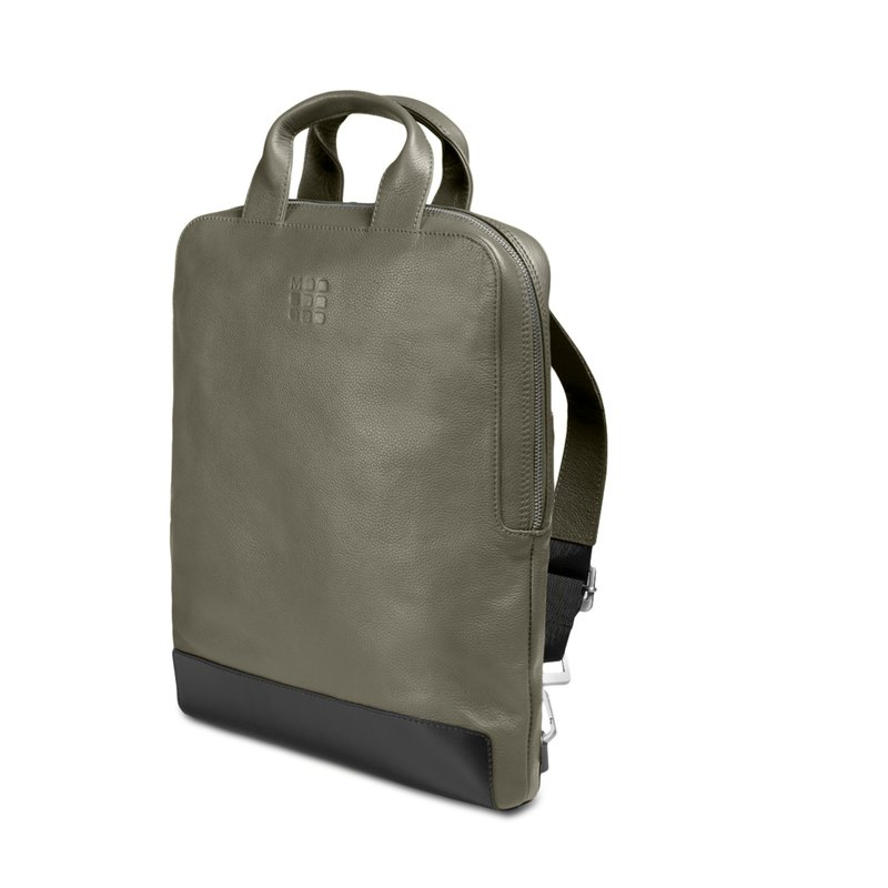 Year-end Surprise Classic Leather Straight Gear Bag-Moss Green
