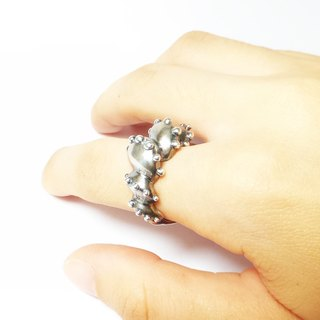 Jellyfish spiral. 925 Silver Ring