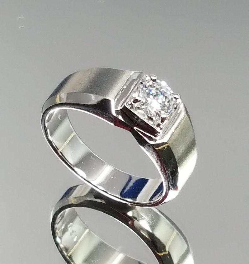 【Hongsheng jewelry】 A33 simulation diamond silver ring