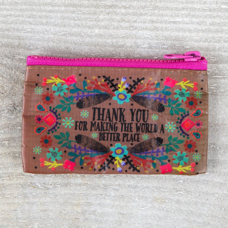 Environmentally friendly material coin purse / gift bag -Thank you
