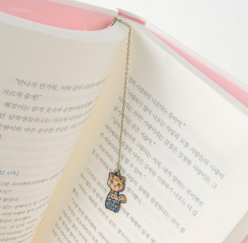 Cat Flower bookmark