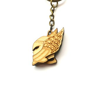 Virgin wing handsome and elegant Virgo key ring
