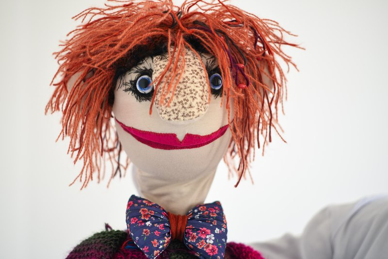 Ku-ku - hand puppet / muppet, professional mimic puppet for performances