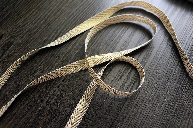 Exquisite chic gold herringbone ribbon 3 m gift wrap DIY material