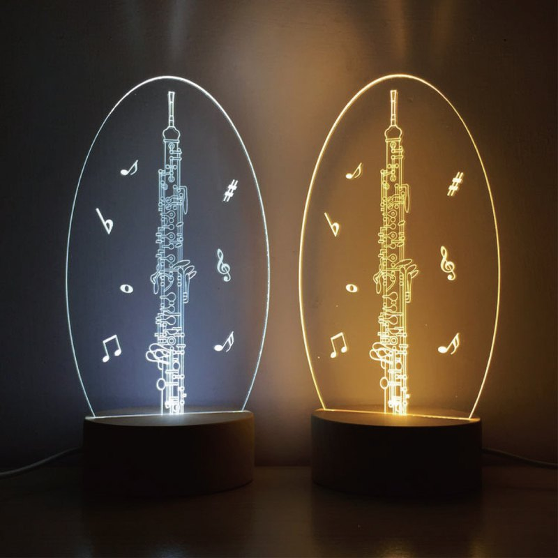 WD Log Night Light-Oboe Wind Music / Music / Night Light / MUSIC