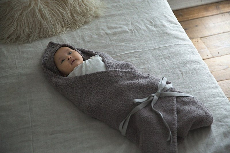 MARLMARL Hooded Blanket / Charcoal Brown