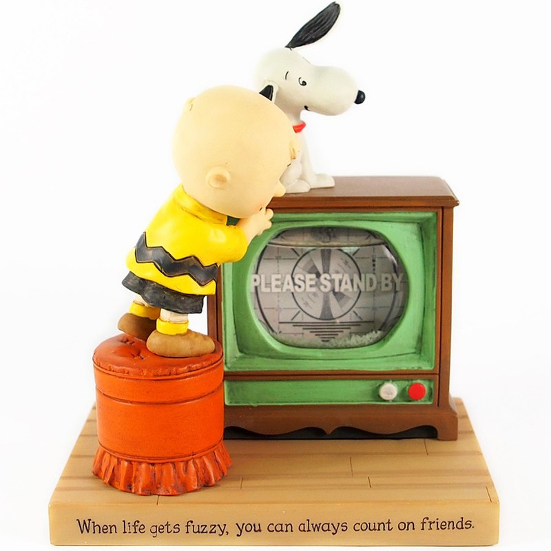 Snoopy handmade sculpture / water polo - relying on friends [Hallmark-Peanuts Snoopy]