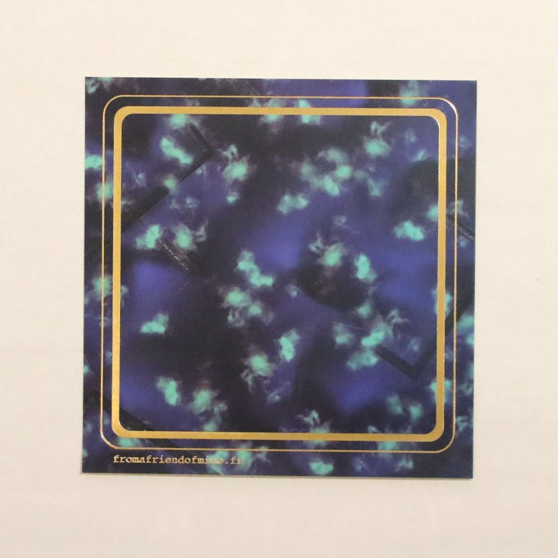 Night blue print design sticker square bronzing version of the whole hall sticker series goods mail free shipping