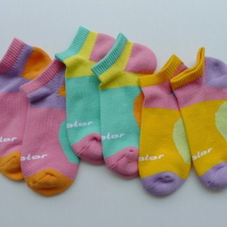 Cotton function professional air jogging socks (female) pink purple (colored optional)