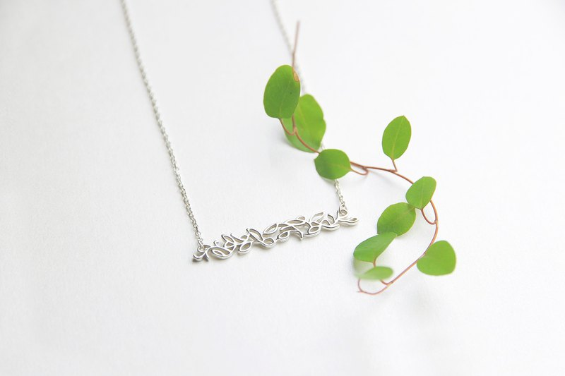 |聚念合|OWEN original 925 sterling silver hand-painted vine pattern clavicle chain