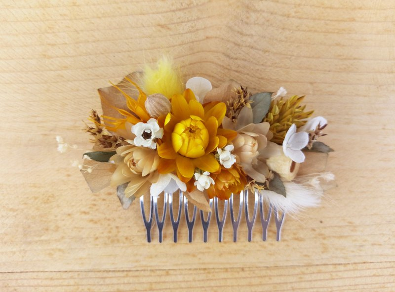 Warm autumn||Dry flower hair fork dry flower hair accessories are not withered flowers hand-made outside shooting bridesmaid