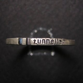 tunneller ( mille-feuille ) ( engraved stamped message sterling silver jewelry rabbit ring 兔 兔子 兔虫 隧道 刻印 雕刻 銀 戒指 指环 )