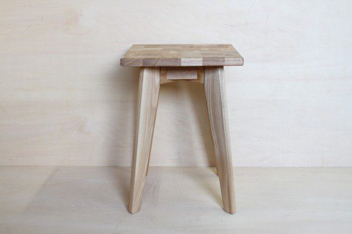 Stool heaven (ten), black ash wood, seat is patchwork style