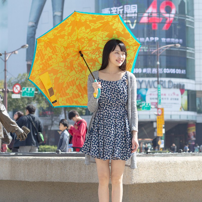 [Carry Umbrella] printed double-layer reverse umbrella (line geometry / 21吋)