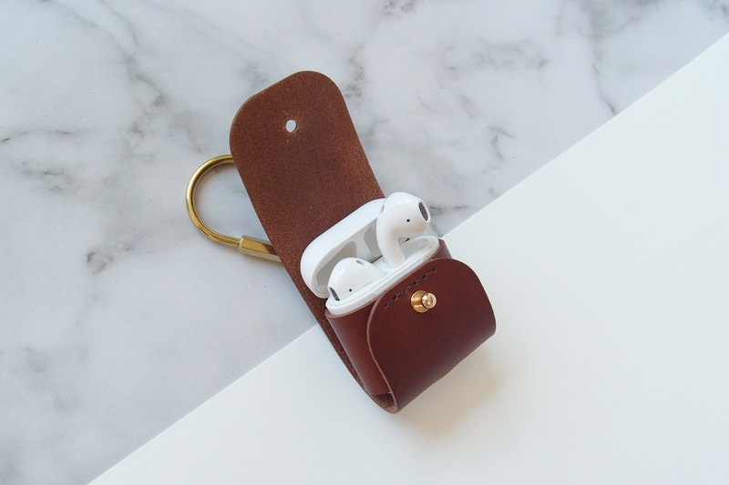 Airpods / Airpods2 / Leather Case / Leather / Leather Handmade / Dark Coffee