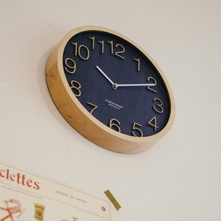 Plock- Royal Blue Mute Clock Wall Clock