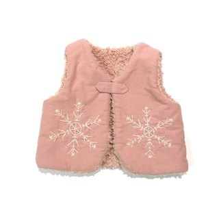 The snowy Babyvest   Pink