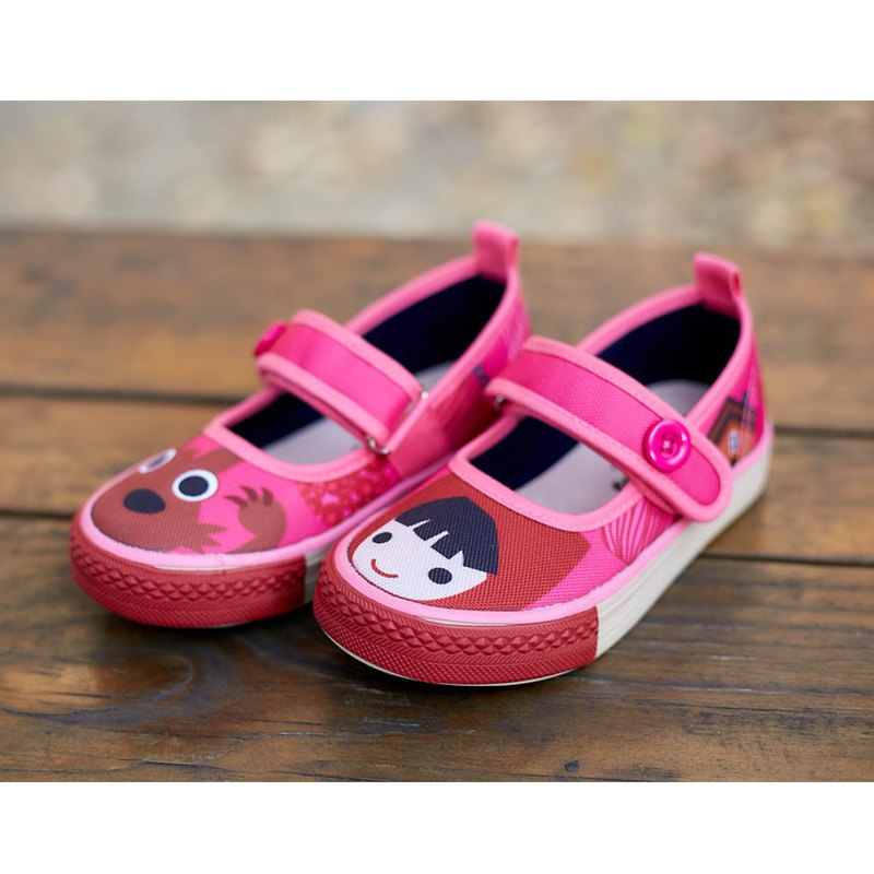 Little Red Riding Hood Button Baby Shoes - Pink Pink Kids Shoes