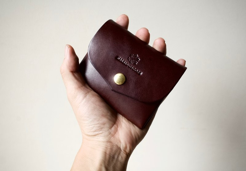 Tochigi leather compact wallet series-envelope Bitter Brown