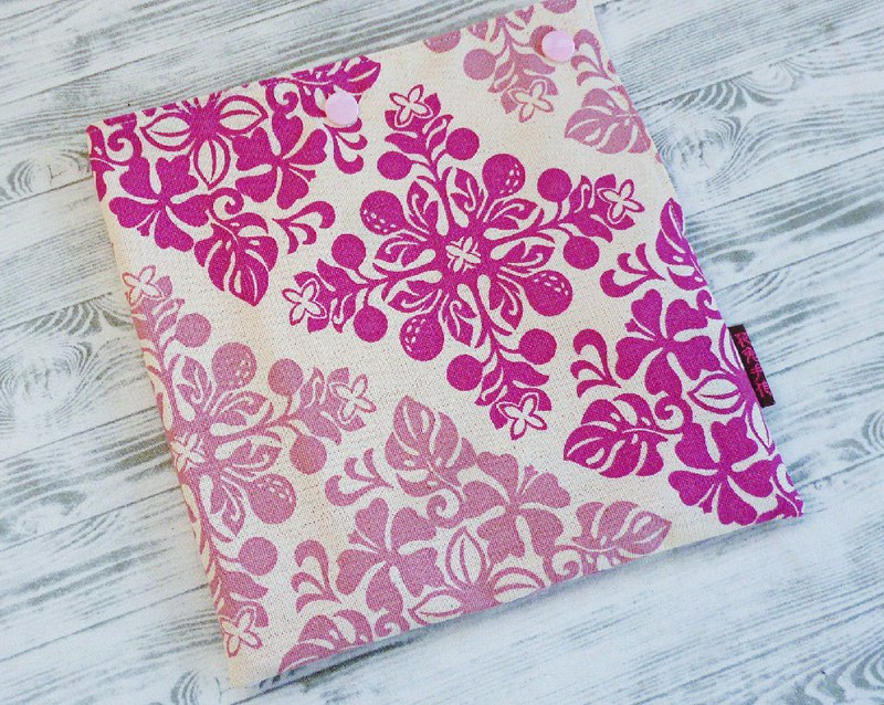 Purple brick flower cotton food bag