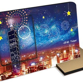 Taiwan series shouts Taipei~sound and light card postcard photo frame background music Canon and fireworks sounds festival celebrations