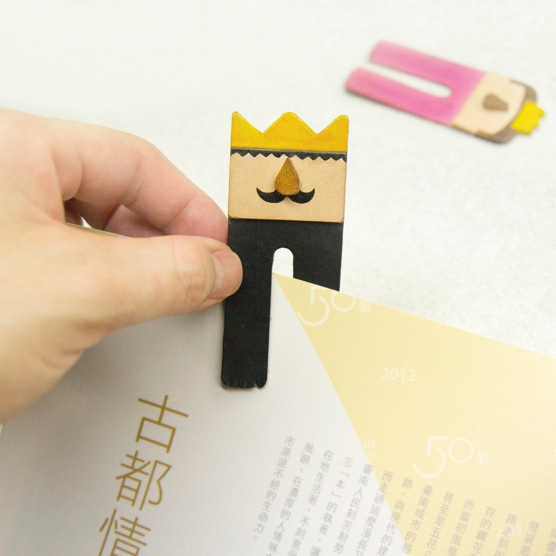 [King] Good Books handmade leather bookmark send black lettering printing