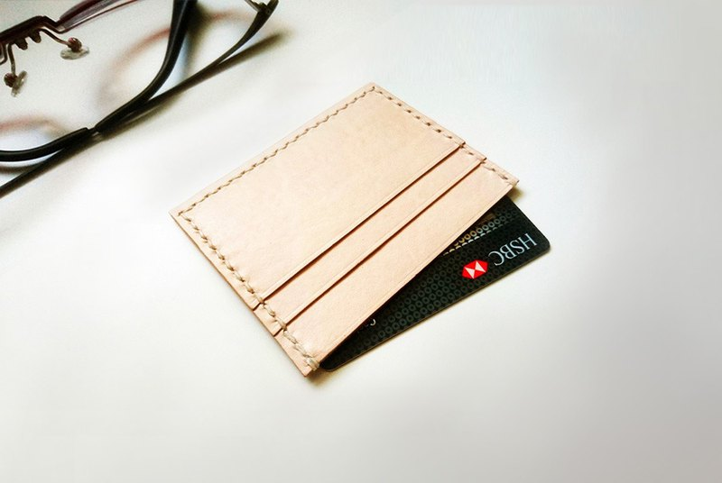 Lightweight leather credit card business card holder