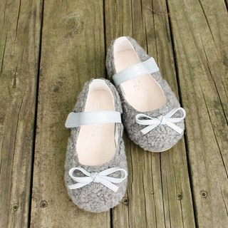 AliyBonnie Shoes Warm Breath Wool Baby Shoes - Star Grey