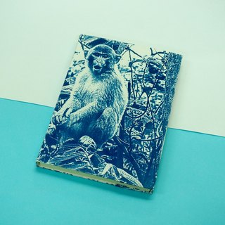 Blue sun cyanide version of the development of hand-sewn notebook - Ma Lishan tree monkey