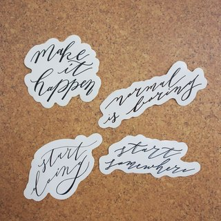 Mstandforc Western Calligraphy Stickers (4 pcs)|Start today