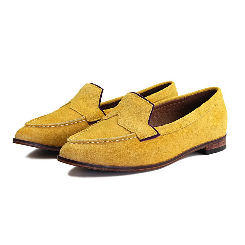 Leather loafers Je Suis Moi W1049A Yellow