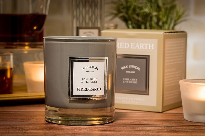 British candle FIRED EARTH series Earl Grey tea with fragrant root 50hrs